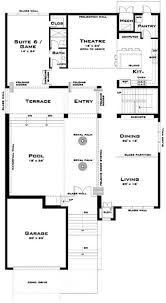 modern floor plans. 116-1067: Floor Plan Main Level Modern Plans 4