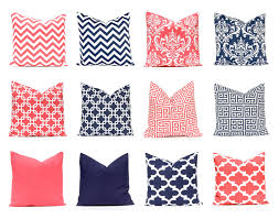 Navy Blue Bedroom Decorating Coral Pillow Covers Decorative Pillow Covers Navy Blue