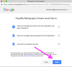 cite your sources in google docs using explore easybib add on allow easybib access to your google docs