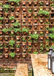 plant hangers for brick walls pour potted plant hanger brick wall