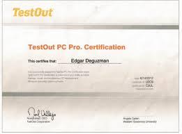 Pc Pro Certification Testout Pc Pro