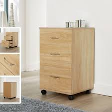 home office drawers. Oak Home Office Mobile 3 Drawers Pedestal Filing Cabinet Silver Handles Unit R