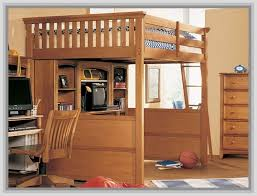 image of full low loft bed