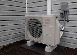 mini split heat pump installation. Simple Mini Mini Split Outdoor Unit Photo For Heat Pump Installation E