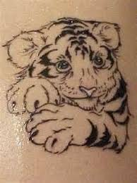 baby tiger drawing tattoo.  Baby White Tiger Tattoos  In Baby Tiger Drawing Tattoo