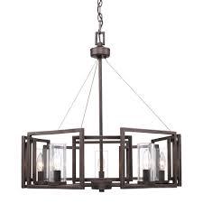 reddington collection 5 light metal bronze chandelier