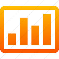 Chart Icon Bootstrap Iconsetc Simple Orange Gradient Bootstrap Font Awesome Bar