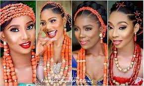 The best bangs for round faces. Latest Igbo Trad Wedding Hairstyles W Coral Bead Accessories Naijaglamwedding