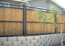 wood framed corrugated metal fence plans iron works gallery custom ornamental fences gates