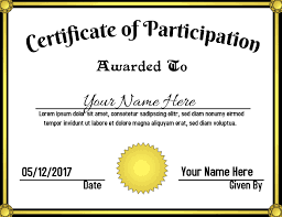 Certificate Of Participation Template Postermywall