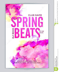 Spring Flyer Template Music Party Flyer Template Or Banner Design Stock Illustration 24