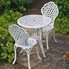 garden table and 2 chairs set. lazy susan furniture - ivy bistro set table with 2 matching chairs cast garden and
