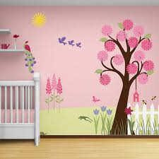 Girl Nursery Stencils for Walls | Flower Garden Wall Mural Stencil Kit Baby  or by MyWallStencils