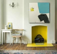 try painting the inside of your fireplace a bright color 7 modern fireplaces