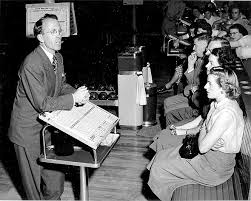 canadian personalities tommy douglas tommy douglas opens a bowling tour nt 1952