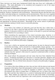 Importance Of Philosophy In Curriculum Design Unit 1 Curriculum And Instruction Pdf Free Download