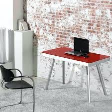 black glass desk home office desks red computer e top corner