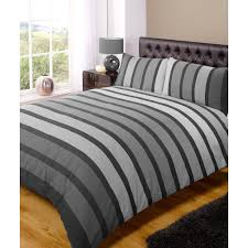 rapport soho stripe duvet cover set black