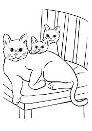 Disegni Di Gatti Da Colorare E Stampare Gratis Gatta Con Cuccioli