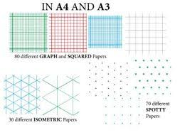 Graph Papper Graph Paper Squared Paper Isometric Paper And Spotty Paper A4 And A3 180 Variations
