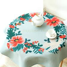 small table cloth literary cotton linen table tablecloth hand painted past fabric small round table square small table cloth