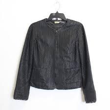 max studio women s black leather jacket sz xs