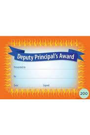 Principal Award Certificate Deputy Principals Award Certificates Teacher Superstore
