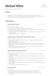 Physical Education Teacher Resume 26282 Densatilorg