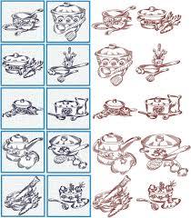 kitchen embroidery designs. kitchen quilt block set embroidery designs
