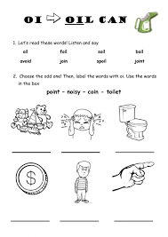 Word beginning and ending worksheets. Oi As In Oil Can Worksheet