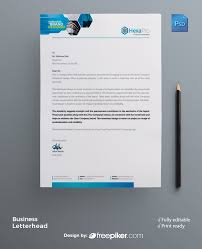 Business Letterhead Templates With Logo Freepiker Business Letterhead Template