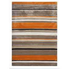 beige  orange striped modern rug atlanta  kukoon