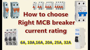 Water Heater Breaker Size Chart How To Choose Right Mcb Breaker Current Rating