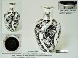 a friedrich spahr silver overlay vase