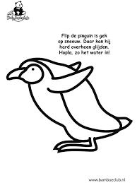 Kleurplaat Pinguin Bamboeclub Kleurplatennl