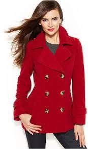 women s fashion outerwear pea coats red pea coats jason kole double ted pea coat