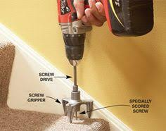 carpet repair kit. squeak repair kit special tool prevents damage to carpet or finished flooring