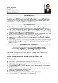 Mechanical Engineering Resume Examples Amazing Objective For Engineering Resume Career Objective For Engineering