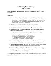 Sat Writing Essays Strategies Les Perelman Of Writing