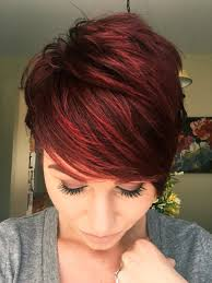 Red Violet Pixie With Copper Tones Kapsels 66 Rood Haar