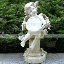 solar garden statues angel statues for the garden outdoor garden solar power resin angel statues yard solar garden statues