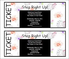30 Printable Ticket Templates To Download 256594585393 Free
