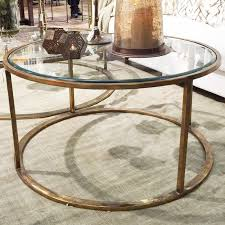 thg round coffee table brass glass loading zoom
