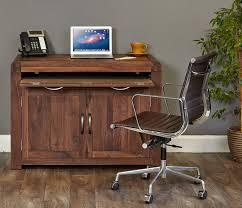 hidden office desk. Shiro Walnut Hidden Home Office Desk