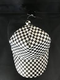 Chequered Pattern Awesome Truckers Cap Chequered Pattern