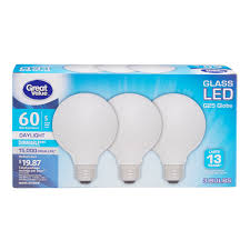 Great Value Cfl Light Bulbs Great Value 60w Equivalent G25 Globe Led Light Bulbs Glass