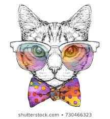 <b>Hipster Cat</b> Images, Stock Photos & Vectors | Shutterstock