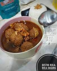 Agar lebih mudah dipotong, simpan daging. Bistik Bola Bola Daging By Yeni Ayu Langsungenak Com