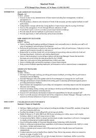 assistant manager skills assistant manager resume samples velvet jobs