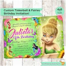 Tinkerbell Invitation Tinkerbell Birthday Invitations Free Printable Disney